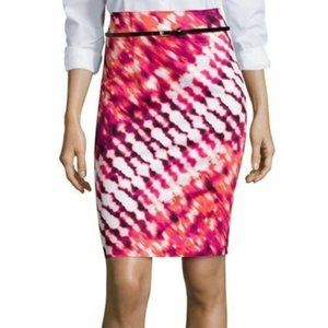 Worthington Cheerful Pink Sidewave Skirt